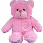 Pink patches bear